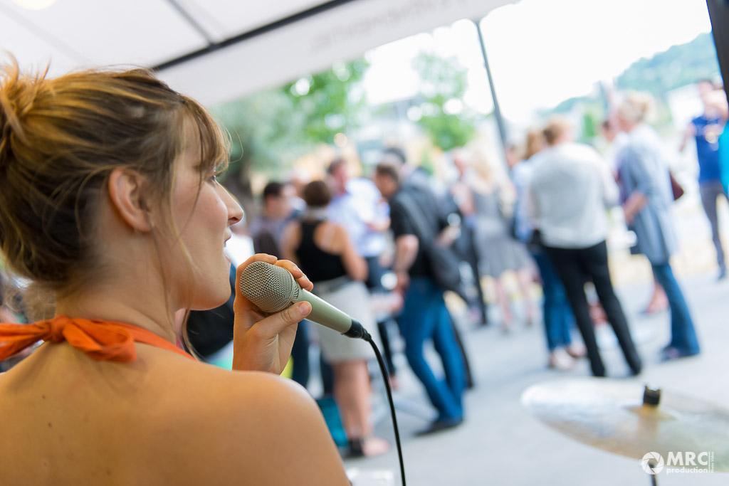 Chanteuse jazz de Circle Trio pour Only Lyon à la confluence