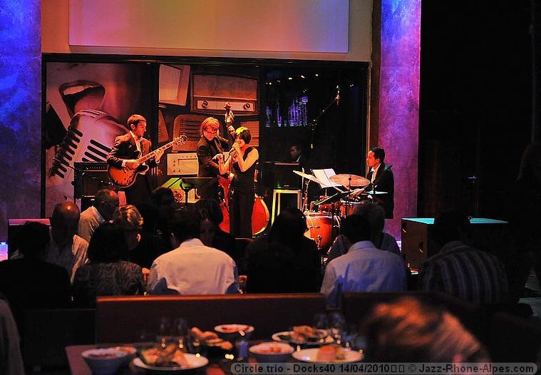Circle Quartet, chanteuse jazz pour une soirée jazz au Docks 40, Lyon Confluence